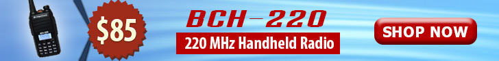 BridgeCom BCH-220 HT 220Mhz Handheld Radio